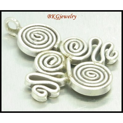 1x Jewelry Findings Coil Hill Tribe Silver Pendant Wholesale [KP023]