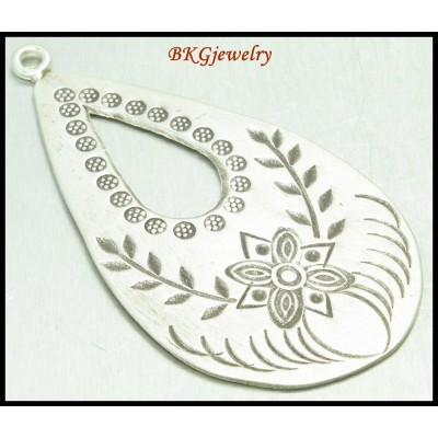 1x Drop Hill Tribe Silver Pendant Wholesale Jewelry Supplies [KP025]