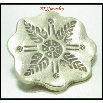 1x Jewelry Findings Karen Hill Tribe Silver Engrave Pendant [KP032]