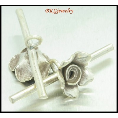 1x Rose Bar Hill Tribe Silver Jewelry Findings Wholesale [KH050]