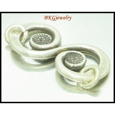 1x Hill Tribe Silver Karen Engrave Jewelry Supplies Wholesale [KH194]