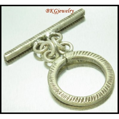 1x Hill Tribe Silver Toggles Jewelry Supplies Wholesale [KH104]
