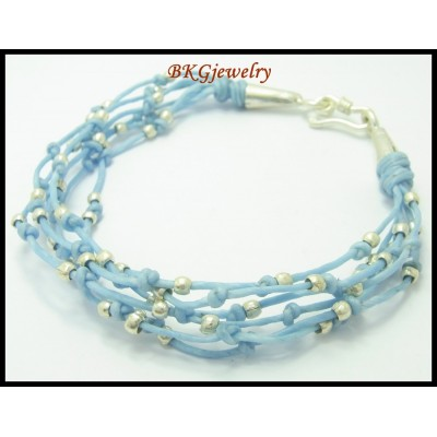 Hill Tribe Silver Jewelry Waxed Cotton Cord Handmade Bracelet [KH082]