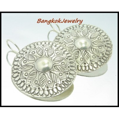 Hill Tribe Silver Wholesale Thailand Dangle Earrings [KH016]