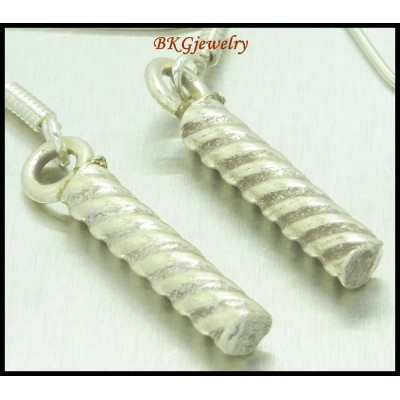 Jewelry Earrings Hill Tribe Silver Dangle Handmade [KH060]