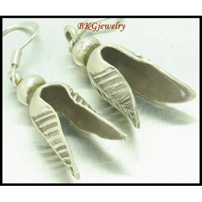Handmade Dangle Earrings Thailand Karen Hill Tribe Silver [KH066]
