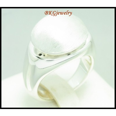 Electroforming Ring 925 Sterling Silver Shiny Jewelry [MR085]