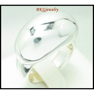 Electroforming Shiny Ring Sterling Silver Jewelry [MR092]