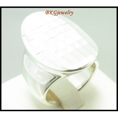 925 Sterling Silver Wholesale Slice Shiny Electroforming Ring [MR108]
