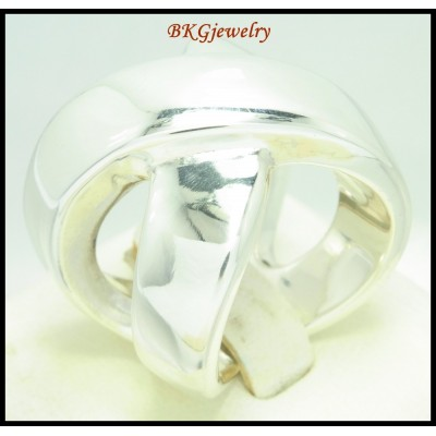 Sterling Silver Electroforming Ring Cross Shiny Wholesale [MR120]