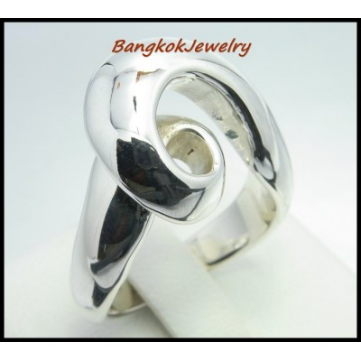 Shiny Fashion Ring Electroforming 925 Sterling Silver [MR023]