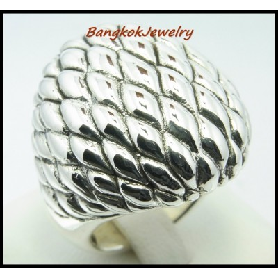 Bulging Jewelry 925 Sterling Silver Electroforming Ring [MR035]