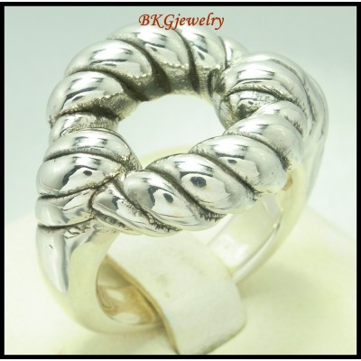 Wholesale Electroforming Round Rope Sterling Silver Ring [MR130]