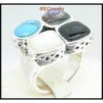 Semi-Precious 925 Sterling Silver Electroforming Jewelry Ring [MR121]