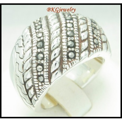 Wholesale Electroforming Ring Sterling Silver Marcasite [MR103]