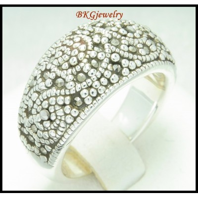 Marcasite Electroform Fashion Ring 925 Sterling Silver [MR104]