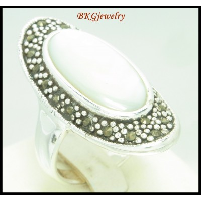 Electroform Wholesale Marcasite Ring 925 Sterling Silver [MR111]