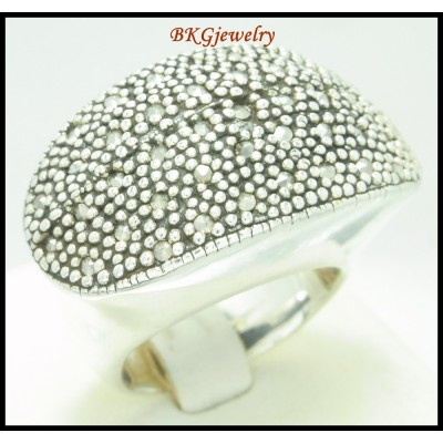 Marcasite Electroforming Wholesale Ring Sterling Silver [MR118]