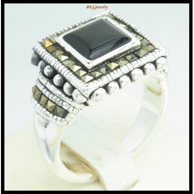 Electroforming Marcasite Ring 925 Sterling Silver Jewelry [MR128]
