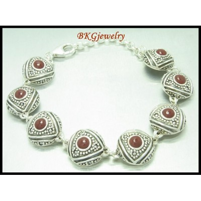 Marcasite Jewelry 925 Sterling Silver Electroforming Bracelet [MB031]