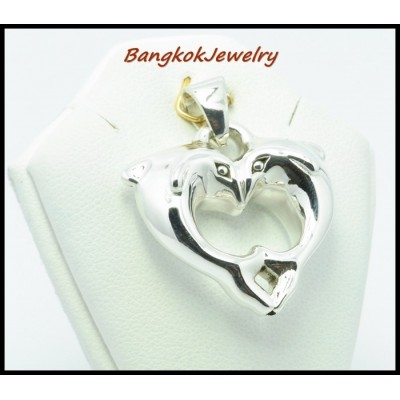 Dolphin Electroform Pendant Jewelry Sterling Silver [MP004]
