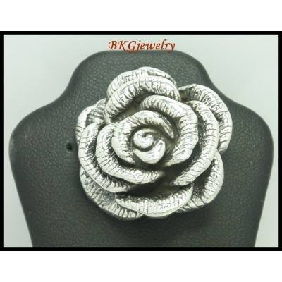 Fashion Rose Pendant 925 Sterling Silver Electroform [MP034]