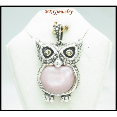 Electroform Marcasite Fashion Sterling Silver Owl Pendant [MP051]