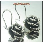 Electroforming Jewelry 925 Sterling Silver Rose Earrings [ME022]