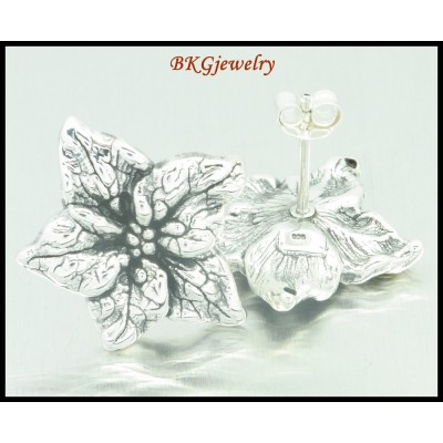 Wholesale Electroforming Sterling Silver Flower Earrings [ME042]
