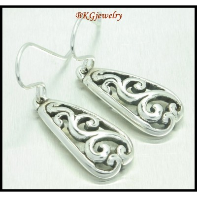 925 Sterling Silver Fashion Electroforming Dangle Earrings [ME065]