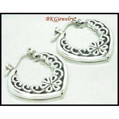Sterling Silver Earrings Electroforming Fashion Huggie [ME133]