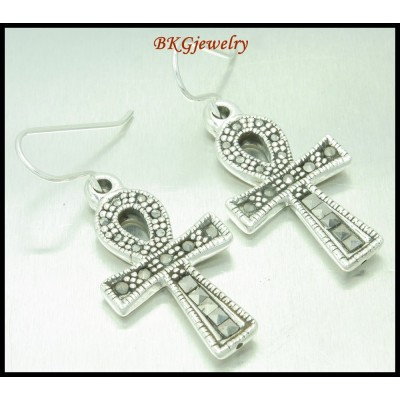 Electroform 925 Sterling Silver Fashion Marcasite Earrings [ME092]
