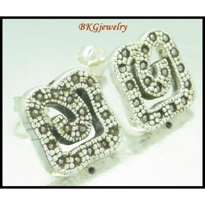 Electroforming Marcasite Fashion Sterling Silver Earrings [ME153]