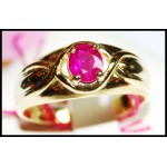 Estate Gemstone 14K Yellow Gold Solitaire Ruby Ring [RR011]